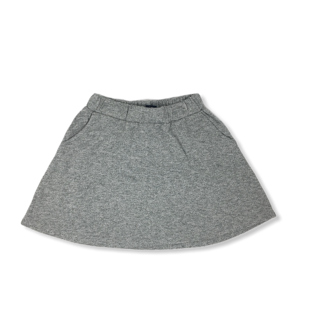 Girls' Grey Cotton Skirt with Pockets - Crabapple