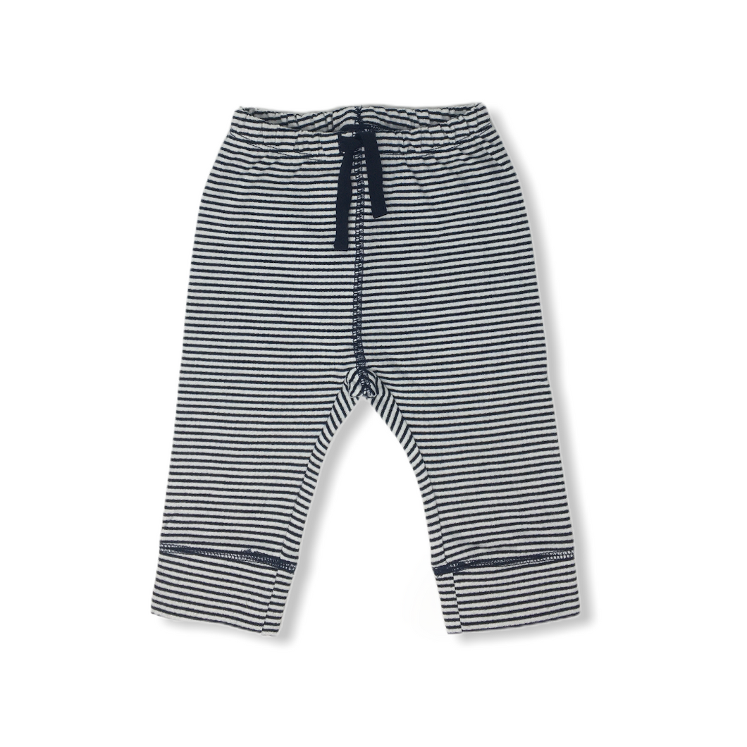 Baby Navy Striped Jogger - Crabapple