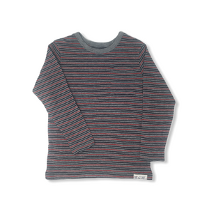Toddler Striped Long Sleeve Crew - Crabapple