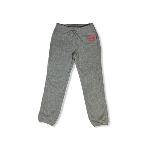 Girls' Grey with Pink GAP Sweatpants - Crabapple