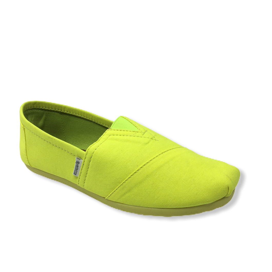 Women's Neon Yellow Casual Shoe - Crabapple
