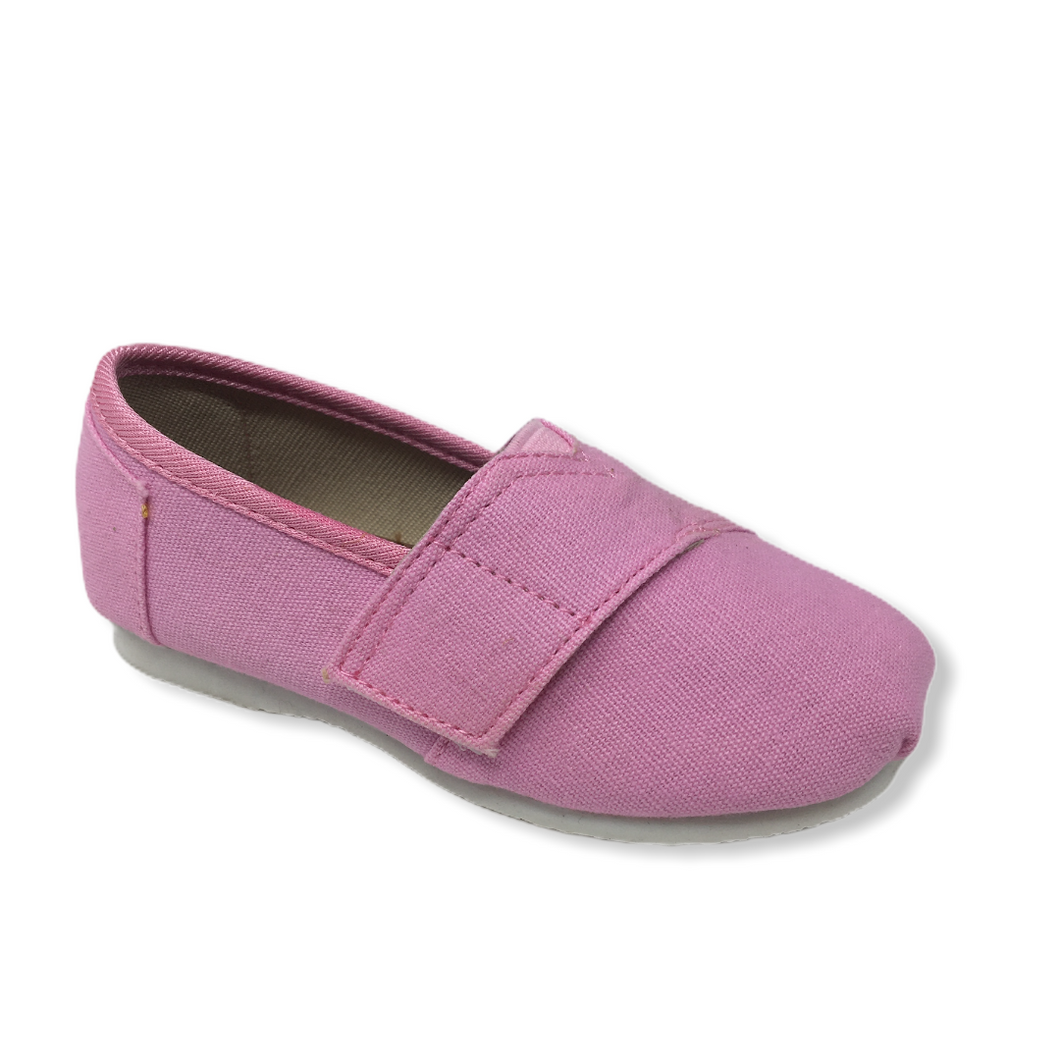 Toddler Pink Casual Shoe with Velcro - Crabapple