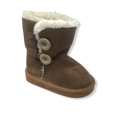 Toddler Caramel Brown Faux Suede Boot - Crabapple