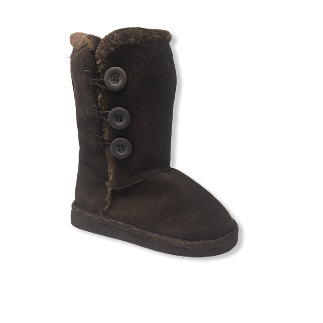Girls' Brown Tall Faux Suede Boot - Crabapple