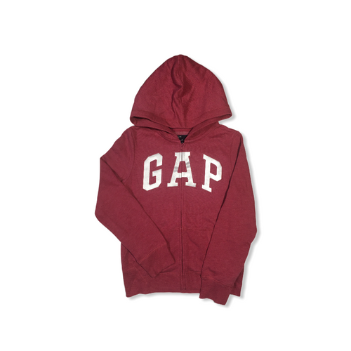Girls' Rose Pink with Reflective GAP Zip-Up Hoodie - Crabapple