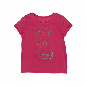 "Girls' Pink ""Never Stop Dreaming"" Pajama Top - Crabapple"
