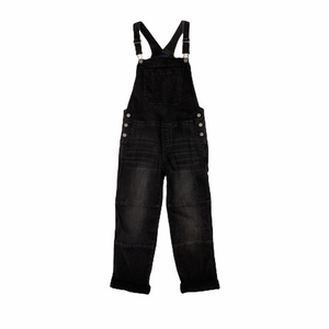 Girls' Black Denim Overalls - Crabapple