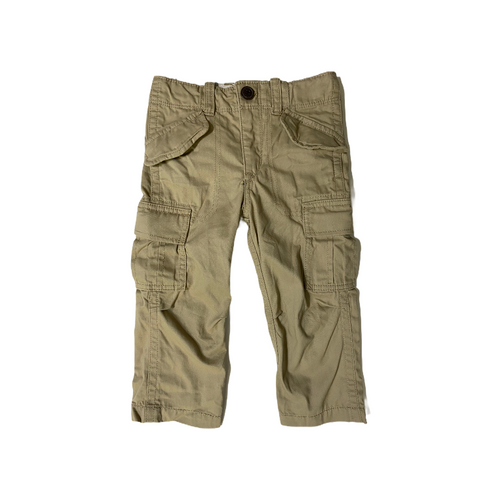 Toddler Khaki Cargo Pant with Adjustable Waist and Snap Pockets - Crabapple