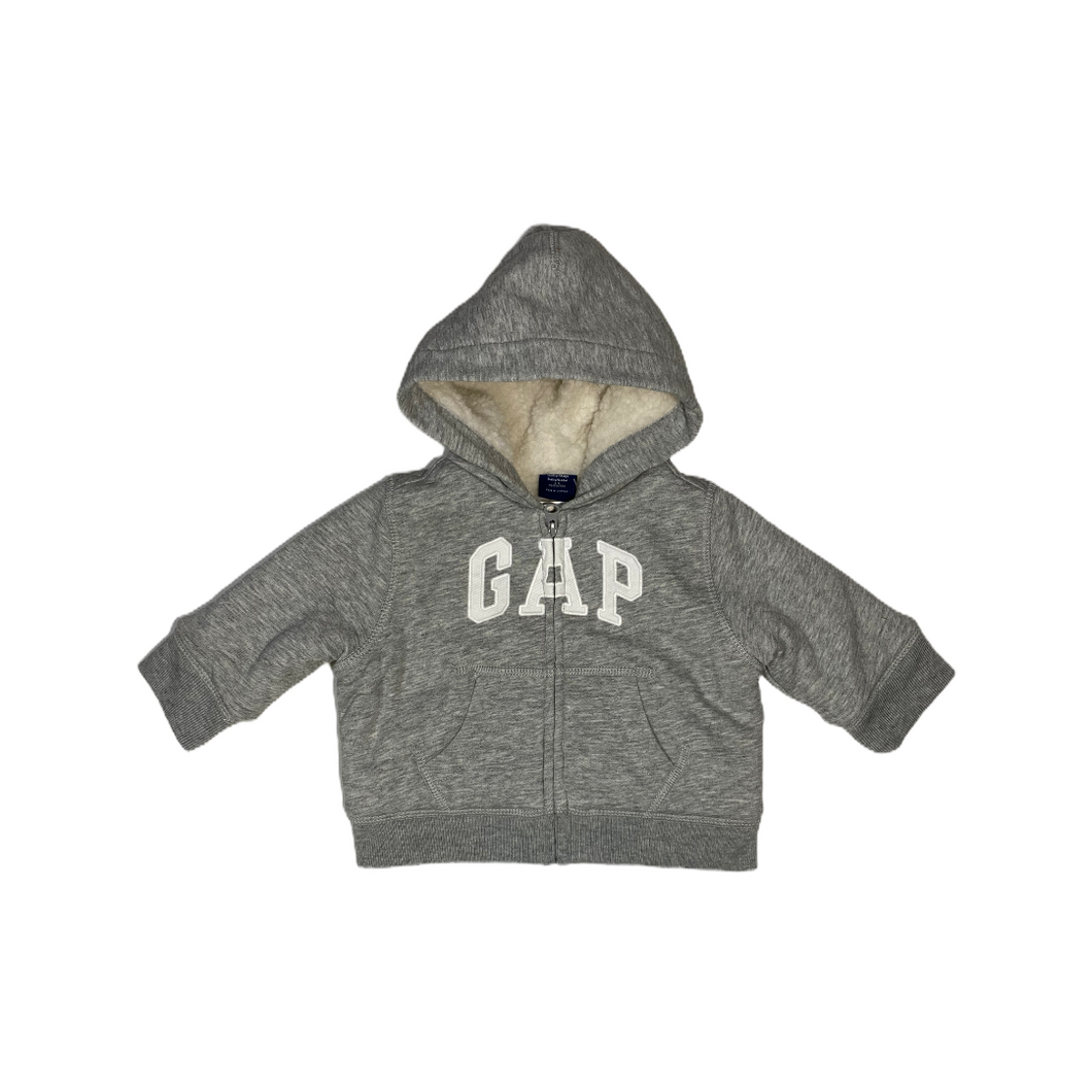 Baby Grey Hoodie with Sherpa Lining - Crabapple