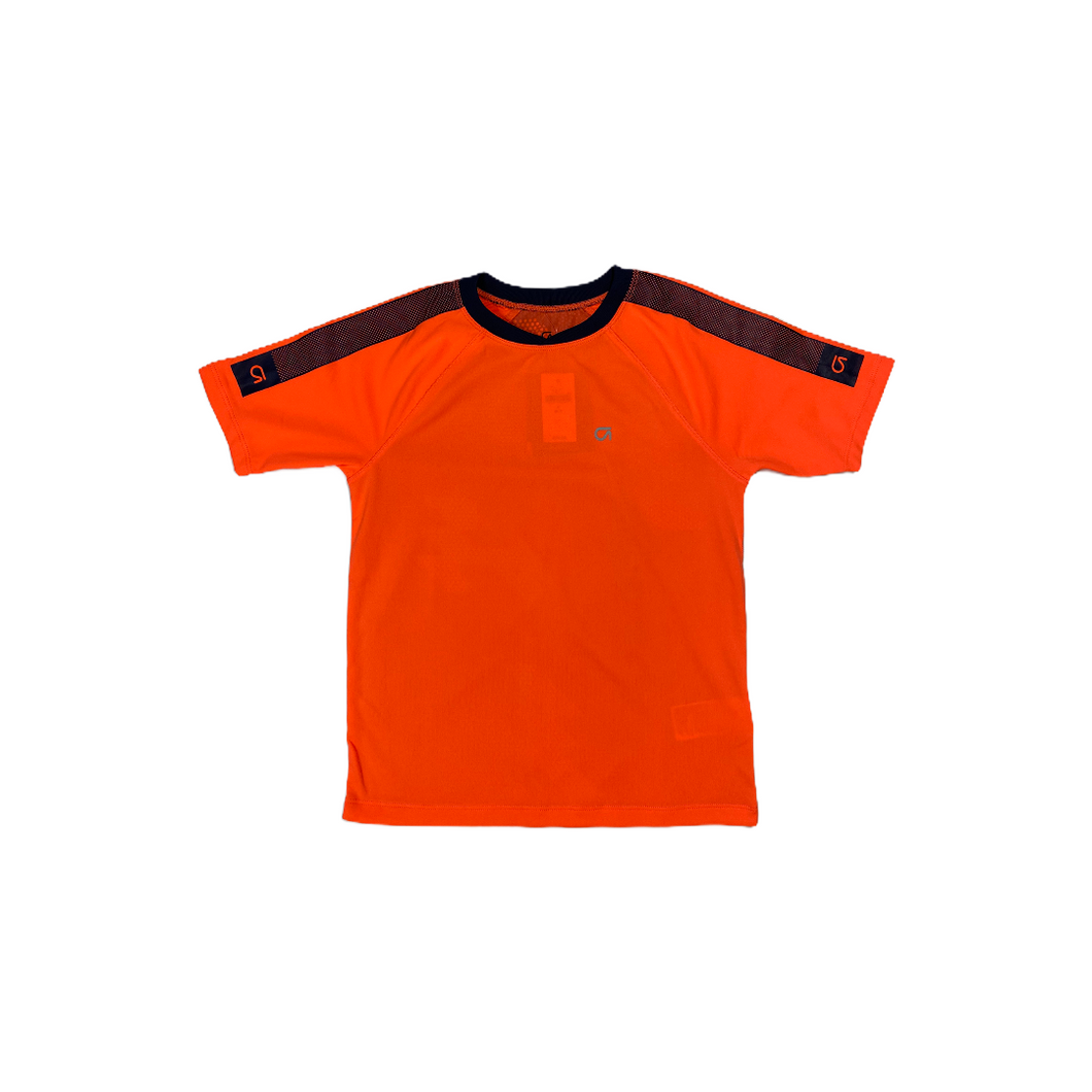 Boys' Navy and Orange Moisture Wicking Tee - Crabapple