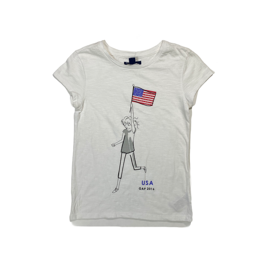 Girls' USA Tee - Crabapple