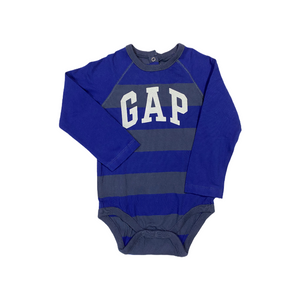 Baby Blue and Grey Striped Bodysuit - Crabapple