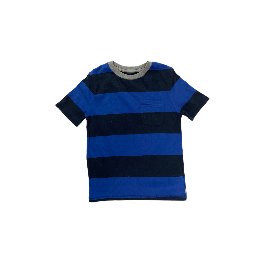 Boys' Blue Color Block Crew Tee with Pocket - Crabapple