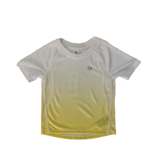 Toddler White with Yellow Wickaway Tee - Crabapple