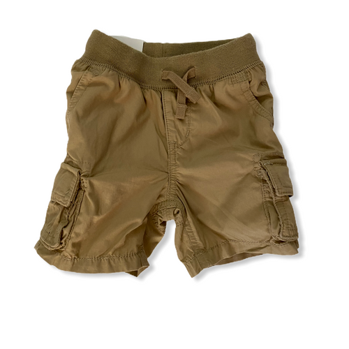 Toddler Khaki Pull-On Cargo Shorts - Crabapple