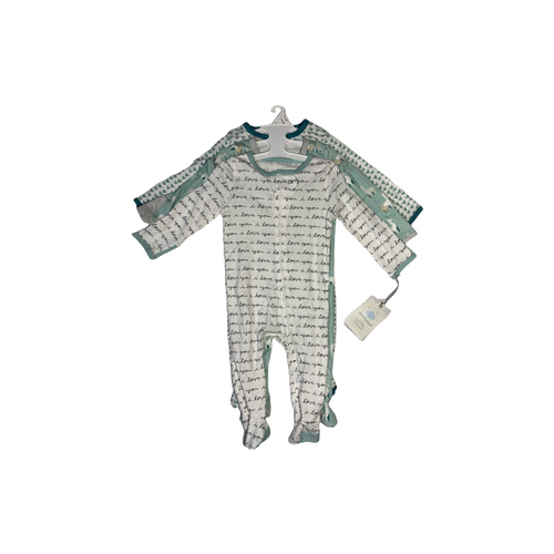 Baby Teal/Grey I Love You & Llama Sleep 'N Plays - 3 Pack - Crabapple