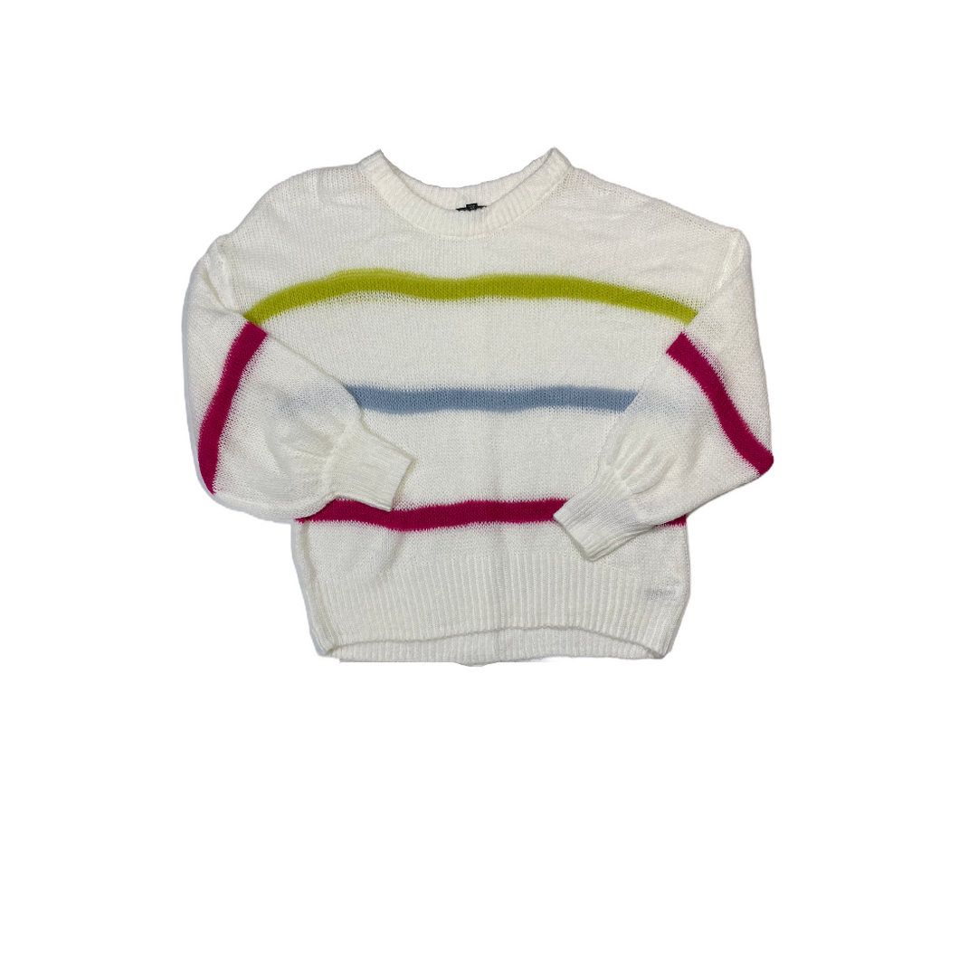 Women's Loose-Knit Striped Boat Neck Sweater - Crabapple