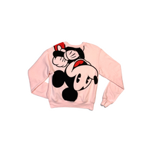 Load image into Gallery viewer, Women's Pink Mickey Mouse Lightweight Sweatshirt - Crabapple