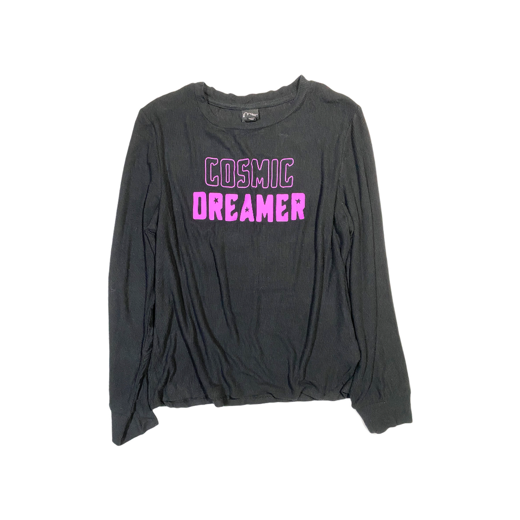 Girls' Cosmic Dreamer Glow in the Dark Pajama Top - Crabapple