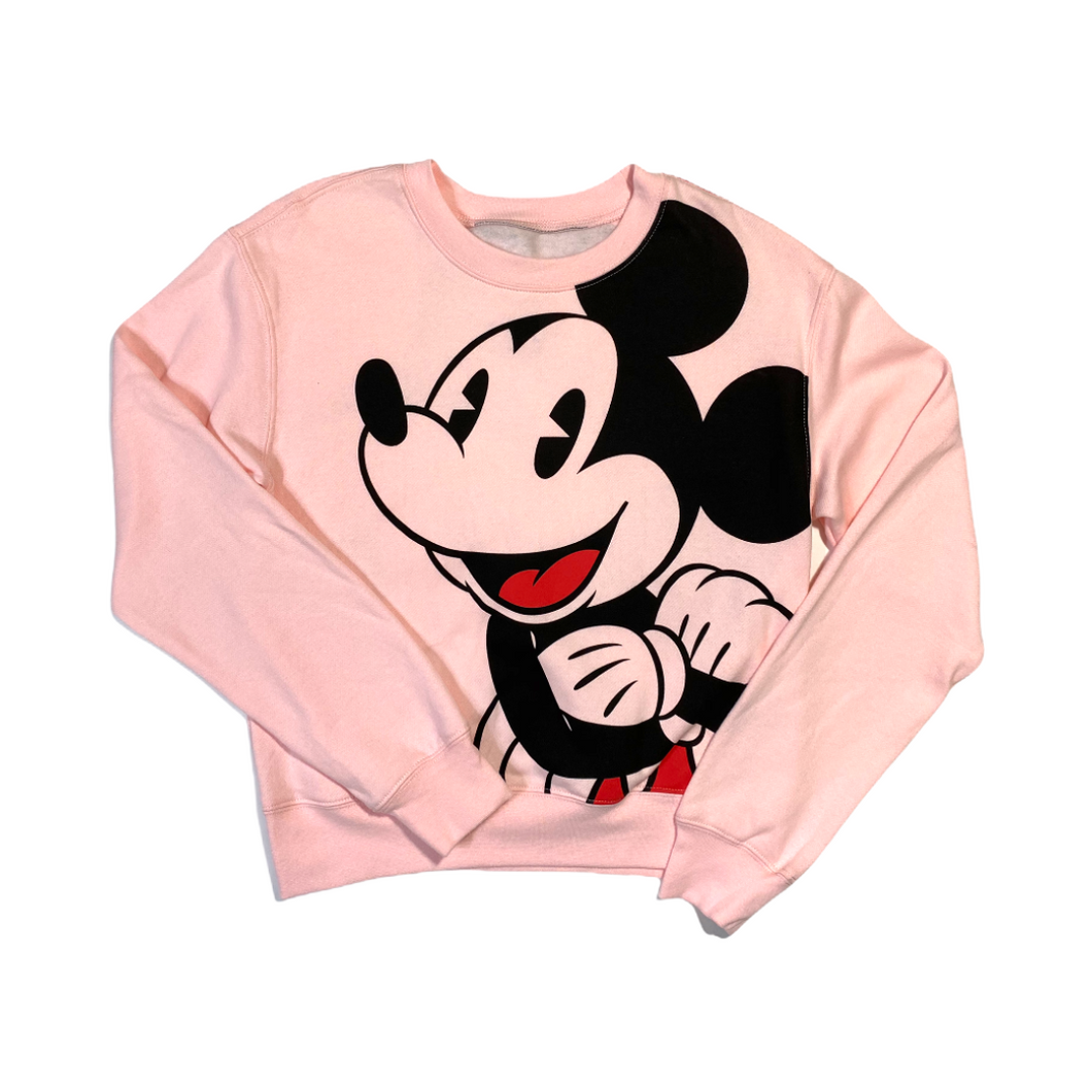 Women's Pink Mickey Mouse Lightweight Sweatshirt - Crabapple