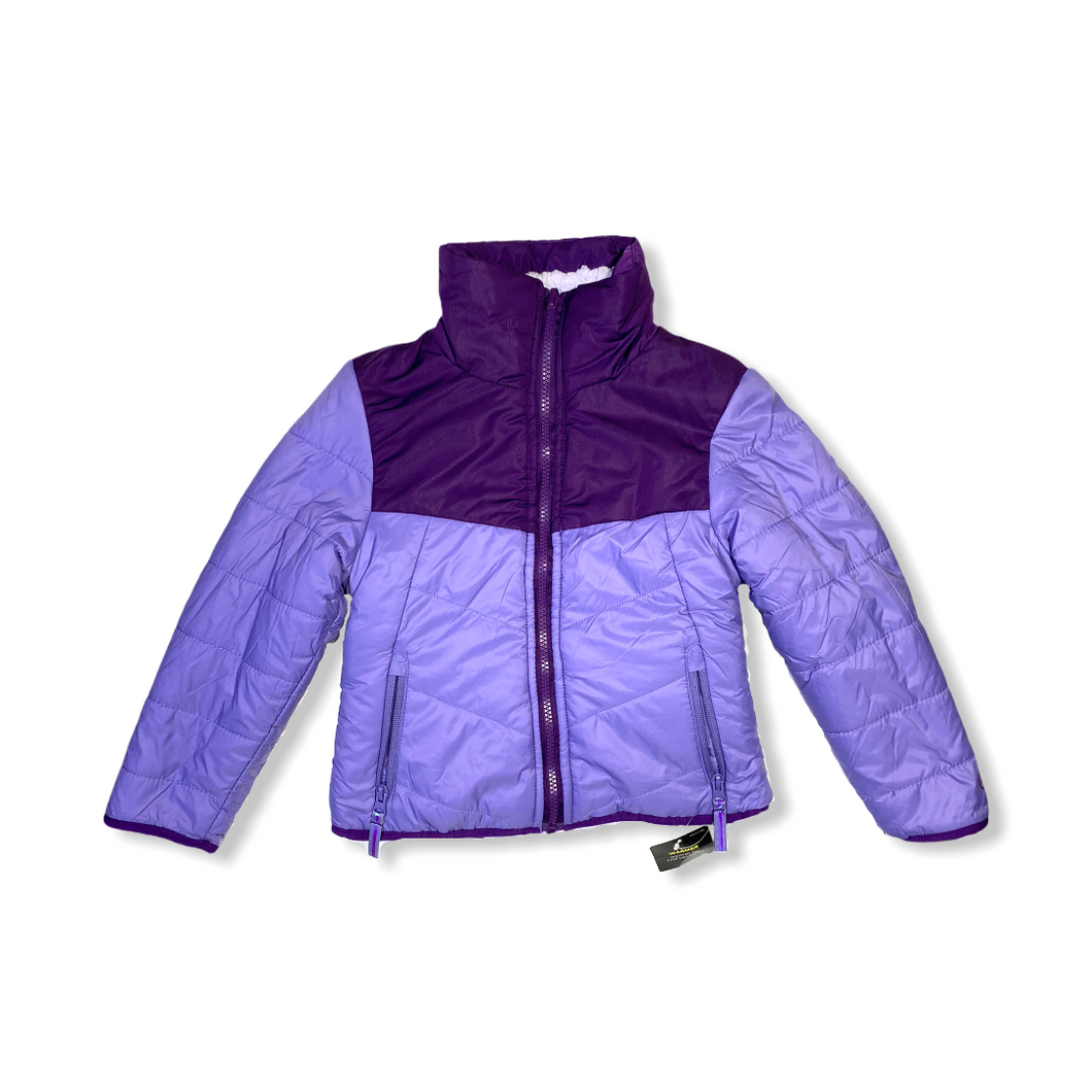 Girls' Purple Reversible Wind Resistant Lightweight Jacket - Crabapple