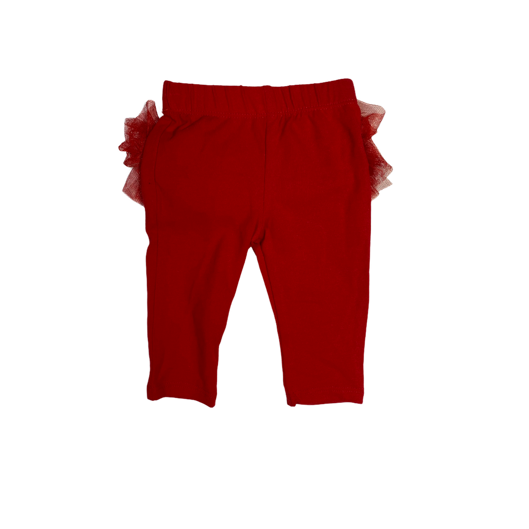 Baby Red Ruffle Leggings - Crabapple