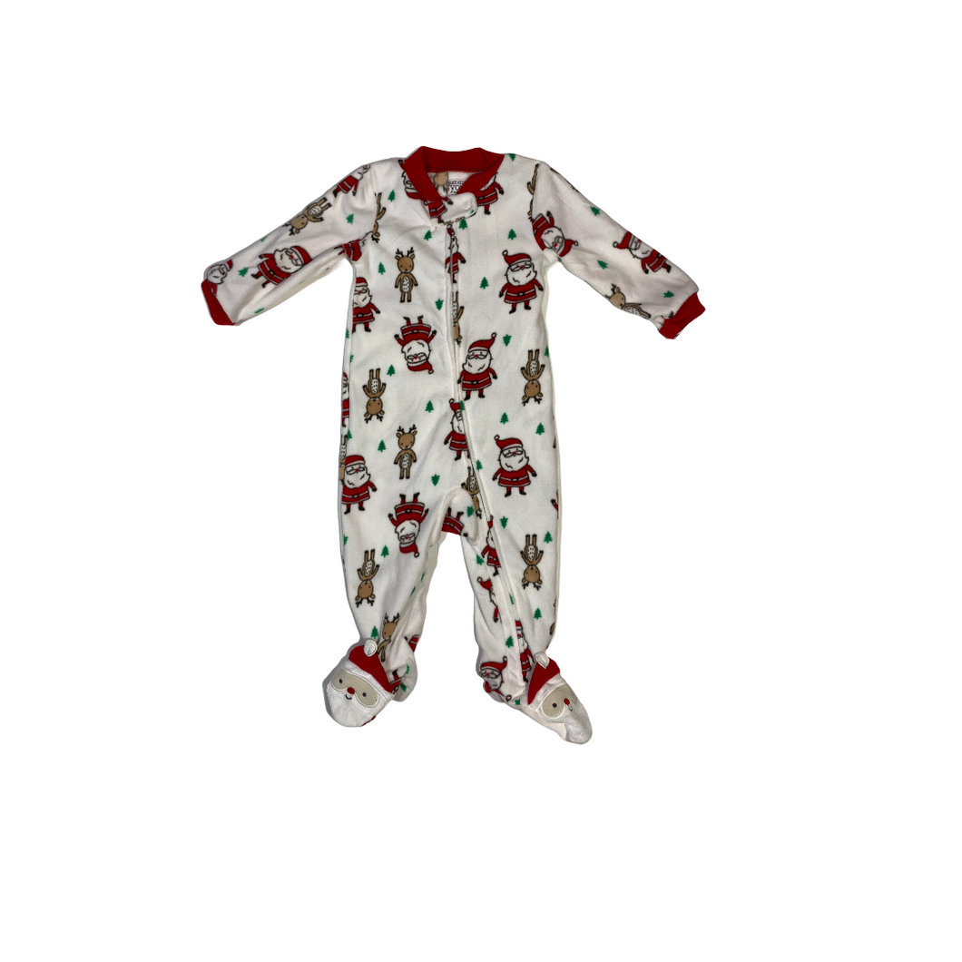 Baby Santa and Reindeer One-Piece - Crabapple
