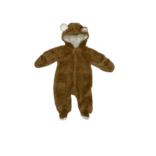 Baby Bear Zip-Up - Crabapple