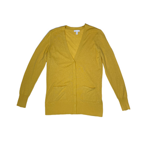Women's Yellow Ochre Cotton/Nylon Cardigan - Crabapple
