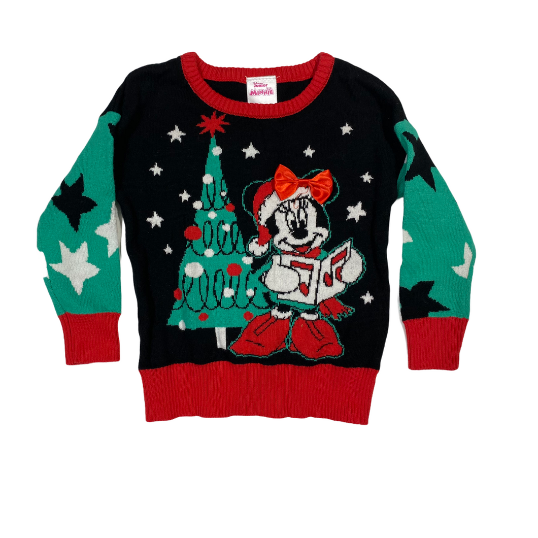 Baby Minnie Christmas Sweater - Crabapple