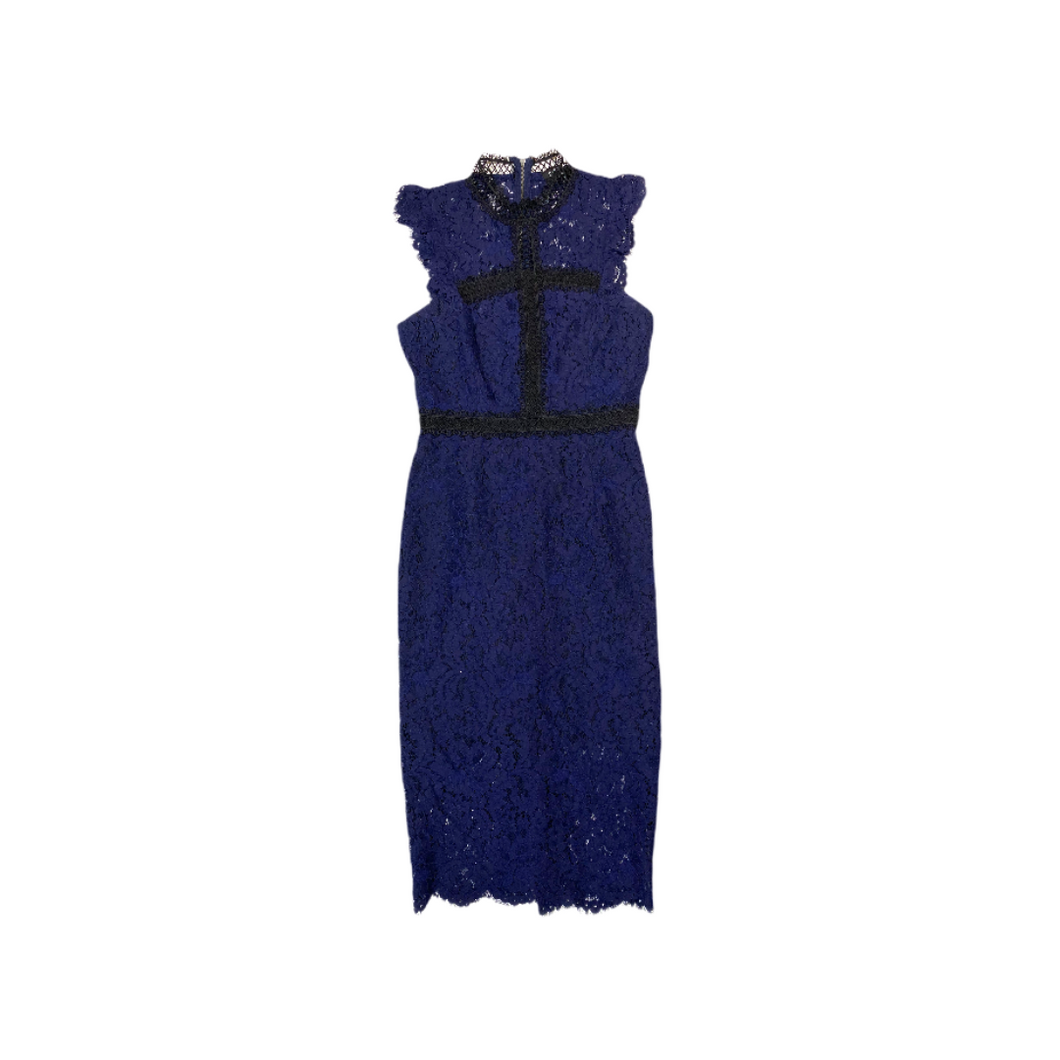 Women's Lace French Navy Midi - Crabapple