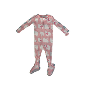 Baby Fairisle & Polar Bear Sleep 'N Play - 2 Piece Set - Crabapple
