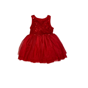Toddler Red Sequins and Sparkle Holiday Dress - Crabapple