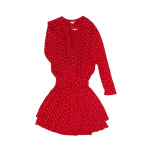 Women's Jasmine Red Polka Dot Smocked Mini - Crabapple