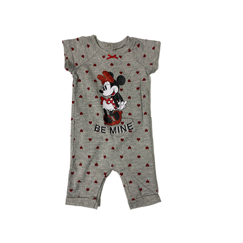 Baby Minnie Be Mine One Piece - Crabapple