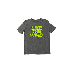 "Boys' Grey ""Like The Wind"" Moisture Wicking Tee - Crabapple"