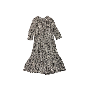 Women's Grey and Black Leopard Print 3/4 Sleeve Dress - Crabapple