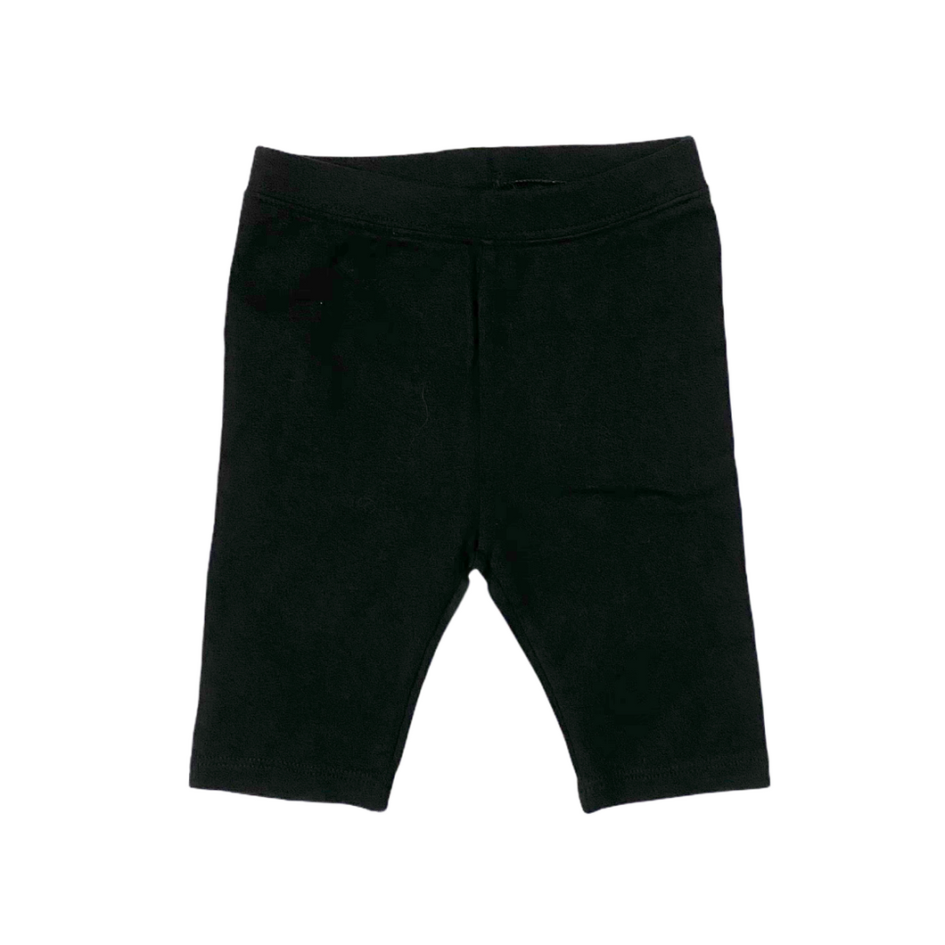 Toddler Black Knit Cropped Legging with Brannan Bear - Crabapple