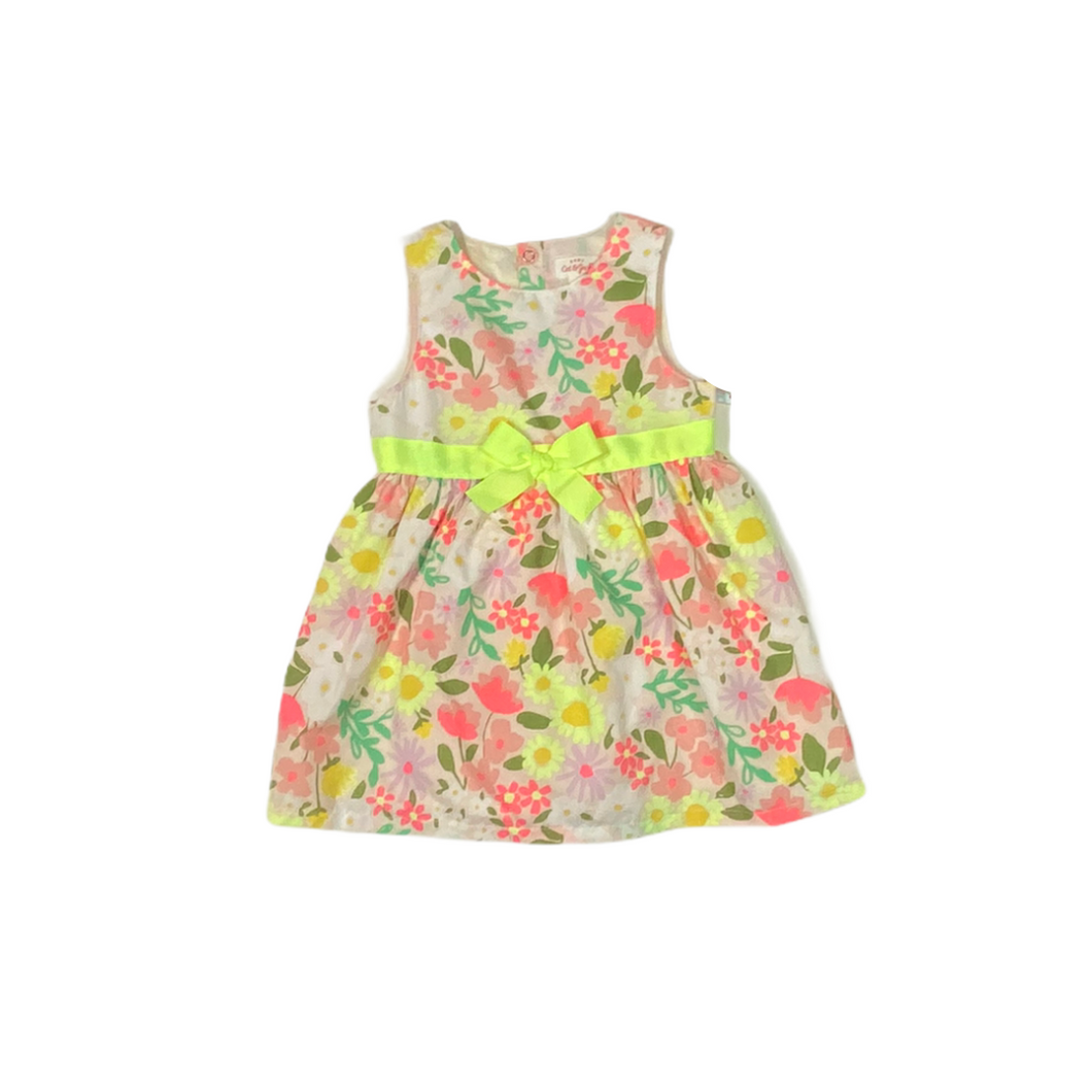 Baby Light Peach Floral Dress with Bloomers - Crabapple
