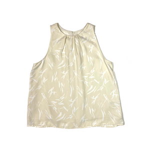 Women's Tan/White Sleeveless Blouse - Crabapple