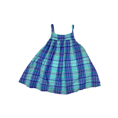 Baby Blue Plaid Dress with Bloomers - Crabapple