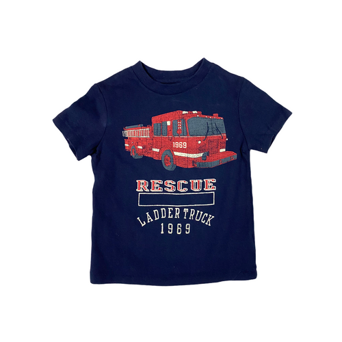 Toddler Navy Rescue Tee - Crabapple