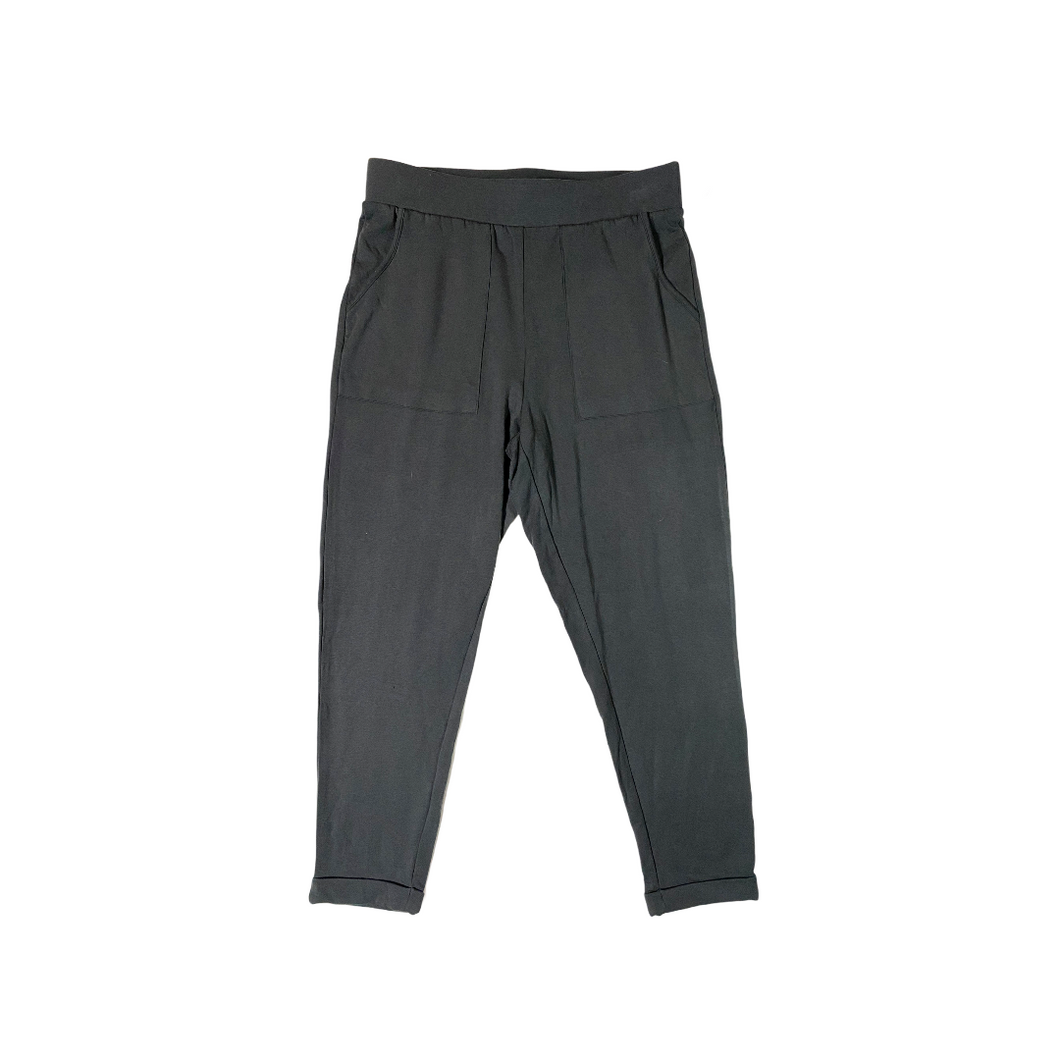 Women's Deep Charcoal Soft Rolled Comfy Pant - Crabapple
