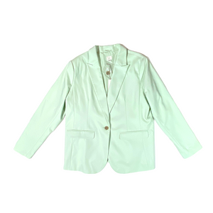 Women's Mint Single-Button Jacket - Crabapple