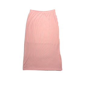 Women's (Juniors) Pink Ribbed Pencil Skirt with Lining - Crabapple