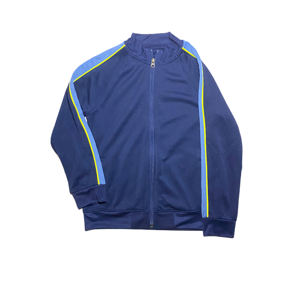 Boys' Navy Track Zip-Up Sweatshirt - Crabapple