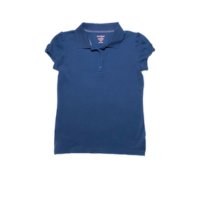 Girls' Navy School Uniform Top - Crabapple