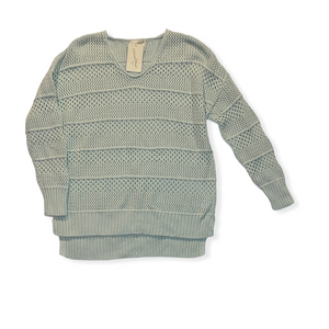 Women's Mint Mesh Sweater - Crabapple
