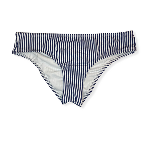 Women's (Junior's) Navy and White Striped Cheeky Bottoms - Crabapple