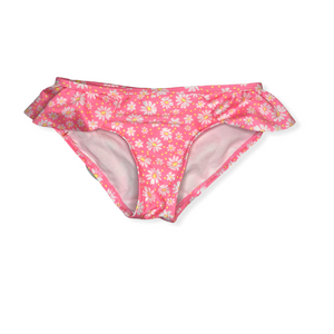 Girls' Pink Daisy Swim Bottoms - Crabapple